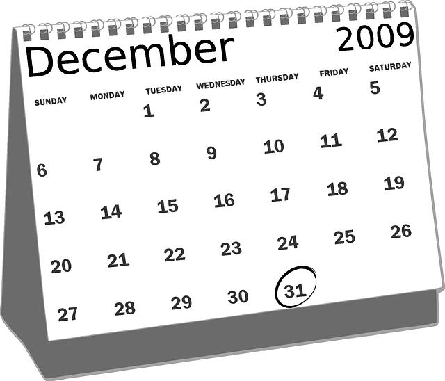 古いカレンダー