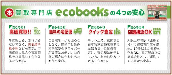ecobooksの安心できるポイント4つ